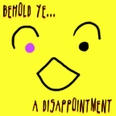 A disappointment logo